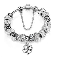 Silver Charm Beads Bracelet  For Women Jewelry - DealsBlast.com