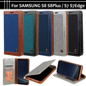 Wallet Leather Flip Case For Samsung Galaxy S7 S7 Edge S7 Edge S8 S8 Plus S8 Plus - DealsBlast.com