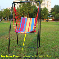 Beach Hammocks Garden Camping Travel Swing Outdoor Furniture Hanging Chair for Xmas Gift Cotton with Sponge - DealsBlast.com