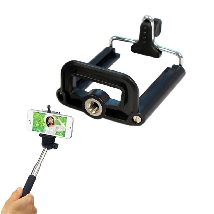 Factory Price New Smart Phone Stand Clip Bracket Holder Tripod Monopod Mount Adapter
