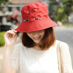 Fashion Cotton Blend Denim Unisex Cap Bucket Hat Summer Outdoor Fishing Caps for Men and Women Flat Sun Berets - Deals Blast