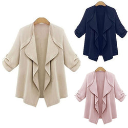 Women Thin Coat Loose Cardigan Cotton Elegant Fashion Jacket - DealsBlast.com