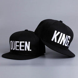 Fashion KING QUEEN Hip Hop Baseball Caps Embroider Letter Couples Lovers Adjustable Snapback Sun Hats for Men Women - DealsBlast.com