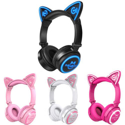 Wireless Bluetooth or Wired Cat Ear Headphones - DealsBlast.com
