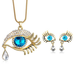 Eyes Jewelry Sets Classic  Long Snake Chain Pendants Necklaces