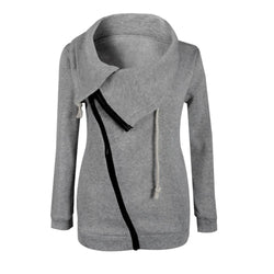 Winter Women Jackets Turn Down Collar Long Sleeve Hoodies Sweatshirts Zipper - DealsBlast.com