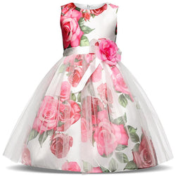 Flower Christmas Girl Dress Wedding Princess Tutu Party Events Dresses For Teenage Girl Dress - DealsBlast.com