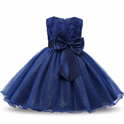 Flower Sequins Princess Toddler girls Dresses summer Halloween Party Girl tutu Dress kids dresses - DealsBlast.com
