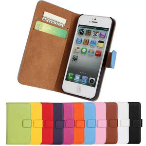 For iPhone 6 5S Flip Case 6S SE 5C Free Capa Leather Mobile Phone Bag Accessory For iPhone 6s Plus Cases Cover Coque Funda - DealsBlast.com