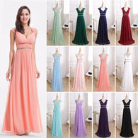Formal Evening Dresses Long Elegant V Neck Sleeveless Evening Dresses - DealsBlast.com