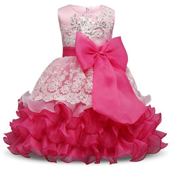 Formal Wedding Ball Gown Toddler Girl Tutu dress for girls clothes kids - DealsBlast.com