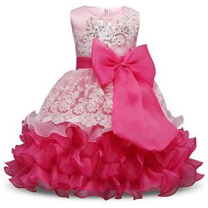 Formal Wedding Ball Gown Toddler Girl Tutu dress for girls clothes kids - Deals Blast