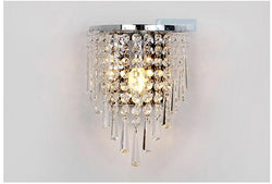 Modern Cemi-circle Crystal Hanging Wall Light For Bedroom - DealsBlast.com
