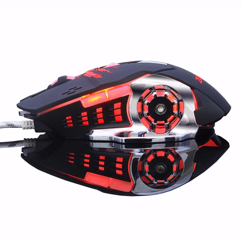 Gaming Mouse Mause DPI Adjustable  Computer Optical LED Game Mice Wired USB Games Cable Mouse LOL for Professional Gamer