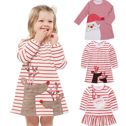 Girls christmas clothes Dress - DealsBlast.com