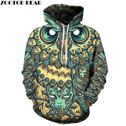 God Owl Of Dreams 3D Hoodies Men 6XL - DealsBlast.com
