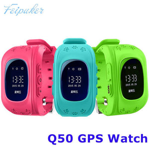 Q50 GSM GPRS GPS Locator Tracker Anti-Lost Smartwatch Child Guard for iOS Android - Deals Blast