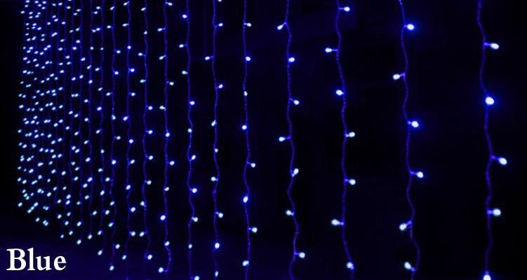 300 LED 3M*3M Curtain String Lights