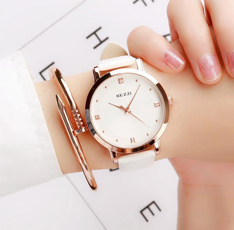 New Brand Luxury Gold Women Watches Fashion Creative Quartz Ladies Watch Female Lovers Waterproof Wrist Watch