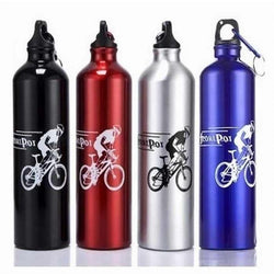 High Quality 4 Colors 750ml New Cycling Camping Bicycle Sports Aluminum Alloy Water Bottle for Outdoor Sport