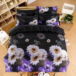 New tulip flowers 3D Bedding Sets 4pcs cover Bed Sheet Bedclothes Queen size very soft - Deals Blast