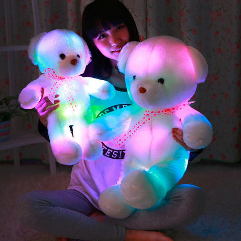 50CM Colorful Glow LED Light Plush Toys Plush Bear Doll Gifts - DealsBlast.com