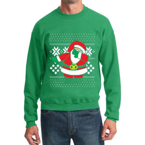 Printed Hoodies Woman Man Santa Crewneck Sweatshirt Ugly Christmas Clothing Size S-XXL - DealsBlast.com
