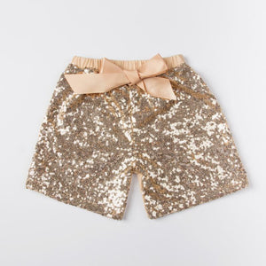 Baby Gold Sequin Shorts  Boys Girls Summer Short Pants Kids Trousers For Toddler Children  Costumes Clothes - DealsBlast.com