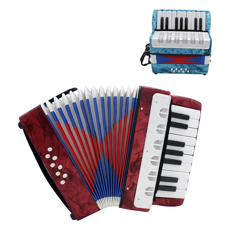Mini 17 Key Accordion Educational Keyboard Musical Instrument - DealsBlast.com