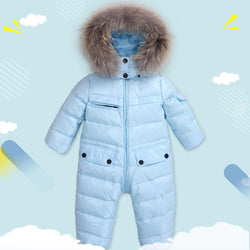 18M-4T  Puffer Snowsuit With Fur Trim - Deals Blast