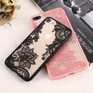 Luxury Lace Flowers Phone Cases For iPhone 6 6s Plus 7 7 Plus 5 5s SE - DealsBlast.com