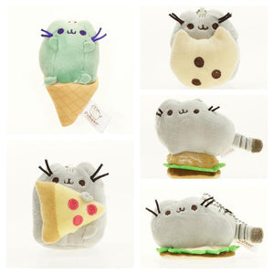 Cartoon Soft Plush Stuffed Animal Pusheen Cats Dolls Cushion Kids Toys for Girl Birthday Gifts with Key Chain Ice Cream - Deals Blast