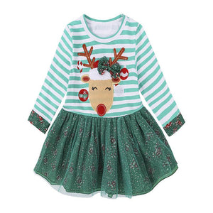 Kids Dresses For Girls Winter Long Sleeve For Kids Merry Christmas - DealsBlast.com