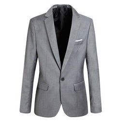 Men Jackets Coats Soild Long Sleeve Casual Turn Down Collar Jacket Male Suits Slim Fit Coat Blazers New Fashion - DealsBlast.com
