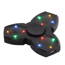 LED Bluetooth Speaker Musical Hand Fidget Spinner USB Charging Fingertip Gyro Spinner Anti Stress Relief Kids Adults Toys Gifts - Deals Blast