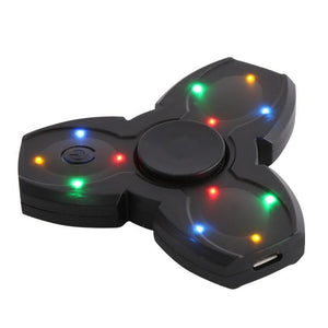 LED Bluetooth Speaker Musical Hand Fidget Spinner USB Charging Fingertip Gyro Spinner Anti Stress Relief Kids Adults Toys Gifts - DealsBlast.com