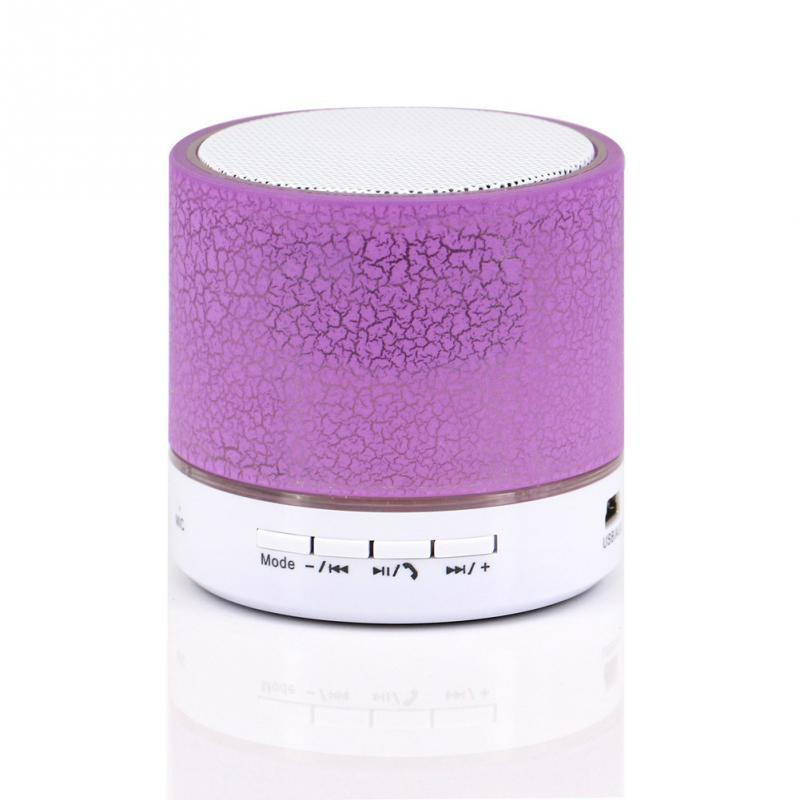 LED Lighting Mini Wireless Bluetooth Speaker A9 TF USB Portable Musical Subwoofer Loudspeakers For phone PC with Mic