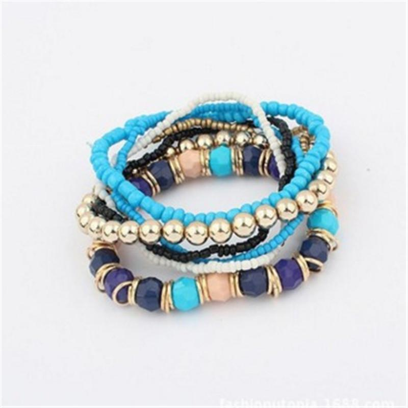 Women Handmade Beaded Bracelet Multilayer