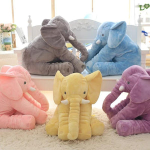 Large Plush Elephant Toy, Plush Soft Toy Stuffed Animal Elephant Pillow For Baby & Kids Sleeping Toys For Child Baby Calm Doll - DealsBlast.com