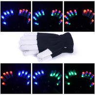 Led Flashing Glow 7 Mode Light Up Finger Glove - DealsBlast.com