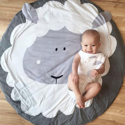 Round Sheep Printed Baby Play Mat - DealsBlast.com