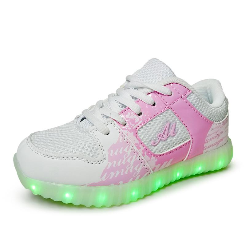 Luminous Sneakers Kids Charging Luminous Lighted Colorful Led lights Girls Boy Shoes