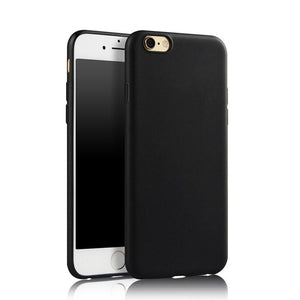 Luxury Case Black Phone Bag Case Anti-fingerprint Matte TPU Silicone Soft Rubber Cover For iPhone 7 6 6S Plus 5S 5 SE - DealsBlast.com