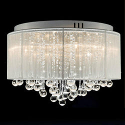 Flush Mounted Luxury Contemporary Drum Ceiling Chandelier Light Fixtures Lamp - DealsBlast.com