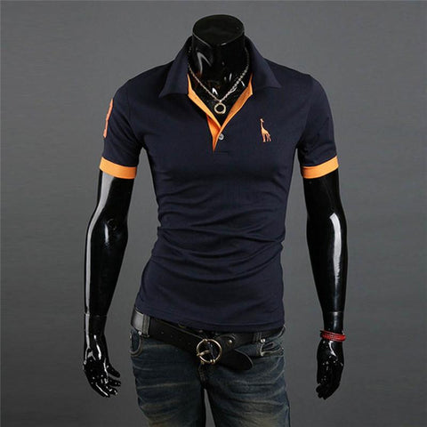 MENPOLO SHIRT! casual slim fit short-sleeved men polo shirt size M-XXXL