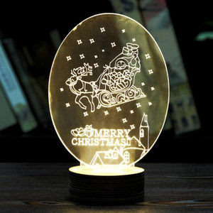 Xmas Deer 3D Unique Optical Illusion Home Decoration LED Table Lamp