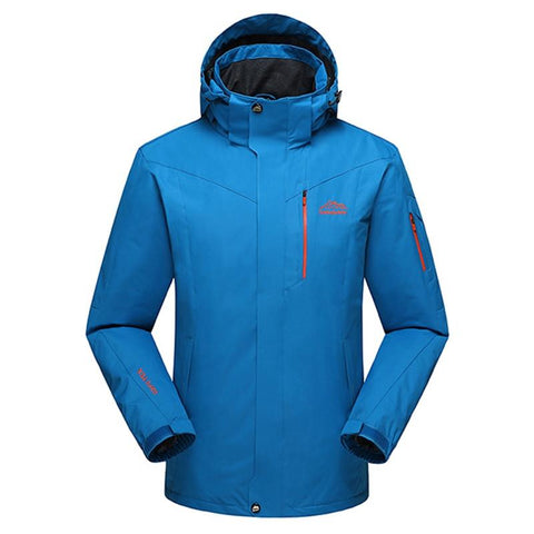 Men Outdoors Warm Hoodie Jacket Waterproof Windbreaker Spring Autumn Man Coat Plus Size