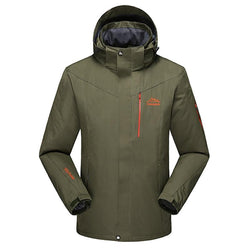 New Men Outdoors Warm Hoodie Spring Autumn Jacket Waterproof Windbreaker Man Coat Plus Size - DealsBlast.com