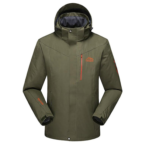 New Men Outdoors Warm Hoodie Spring Autumn Jacket Waterproof Windbreaker Man Coat Plus Size