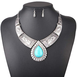 Women Necklace Vintage Statement Necklaces Pendants Water Drop Jewelry Leaves Necklace Women Accessories - DealsBlast.com